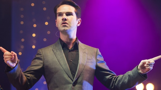 Jimmy Carr performs on stage at Camp Bestival 2012